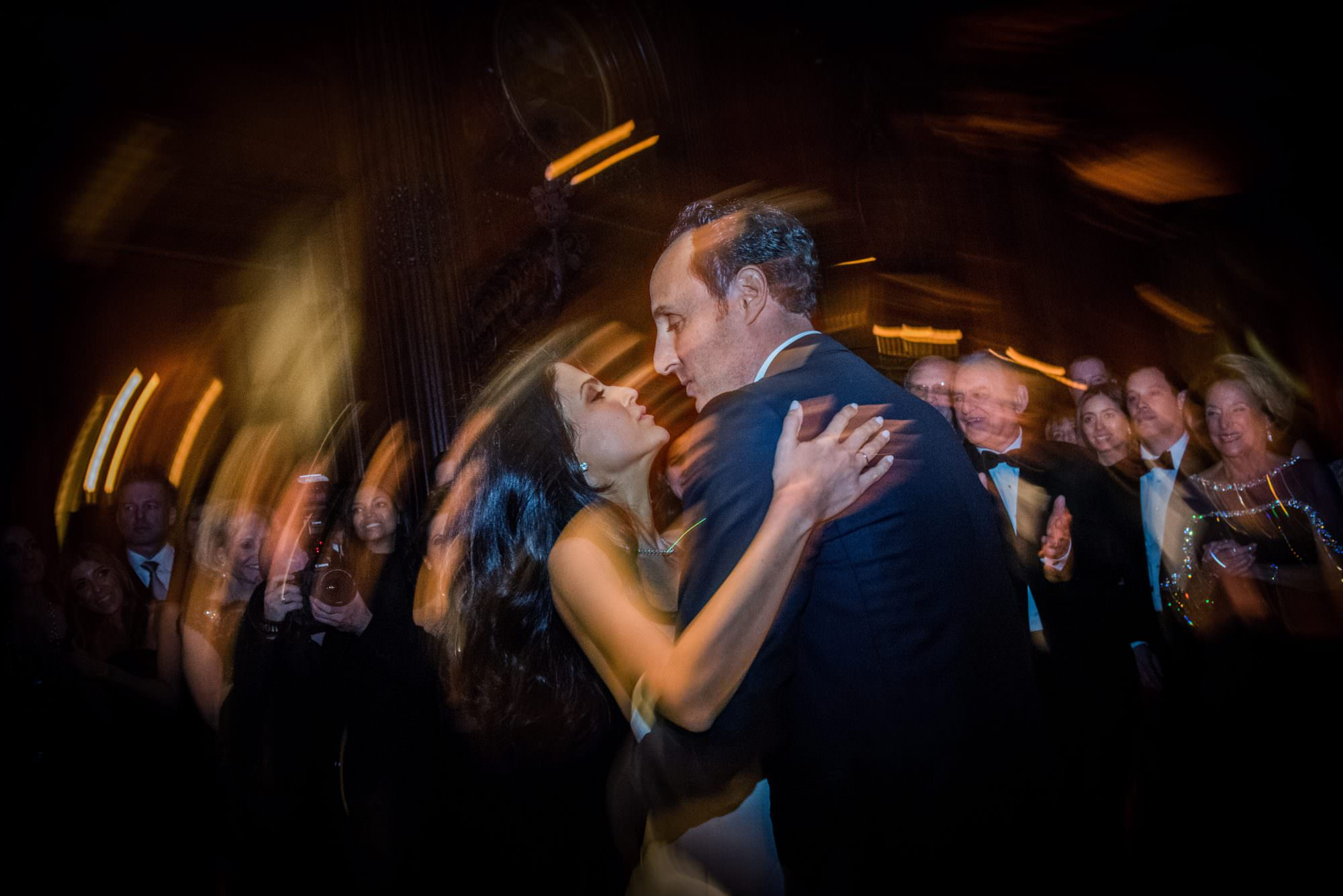 new york city artistic beautiful art wedding photography photographer photo groom bride emotional reception grand entrance jewish parents celebrating mazel tov first dance