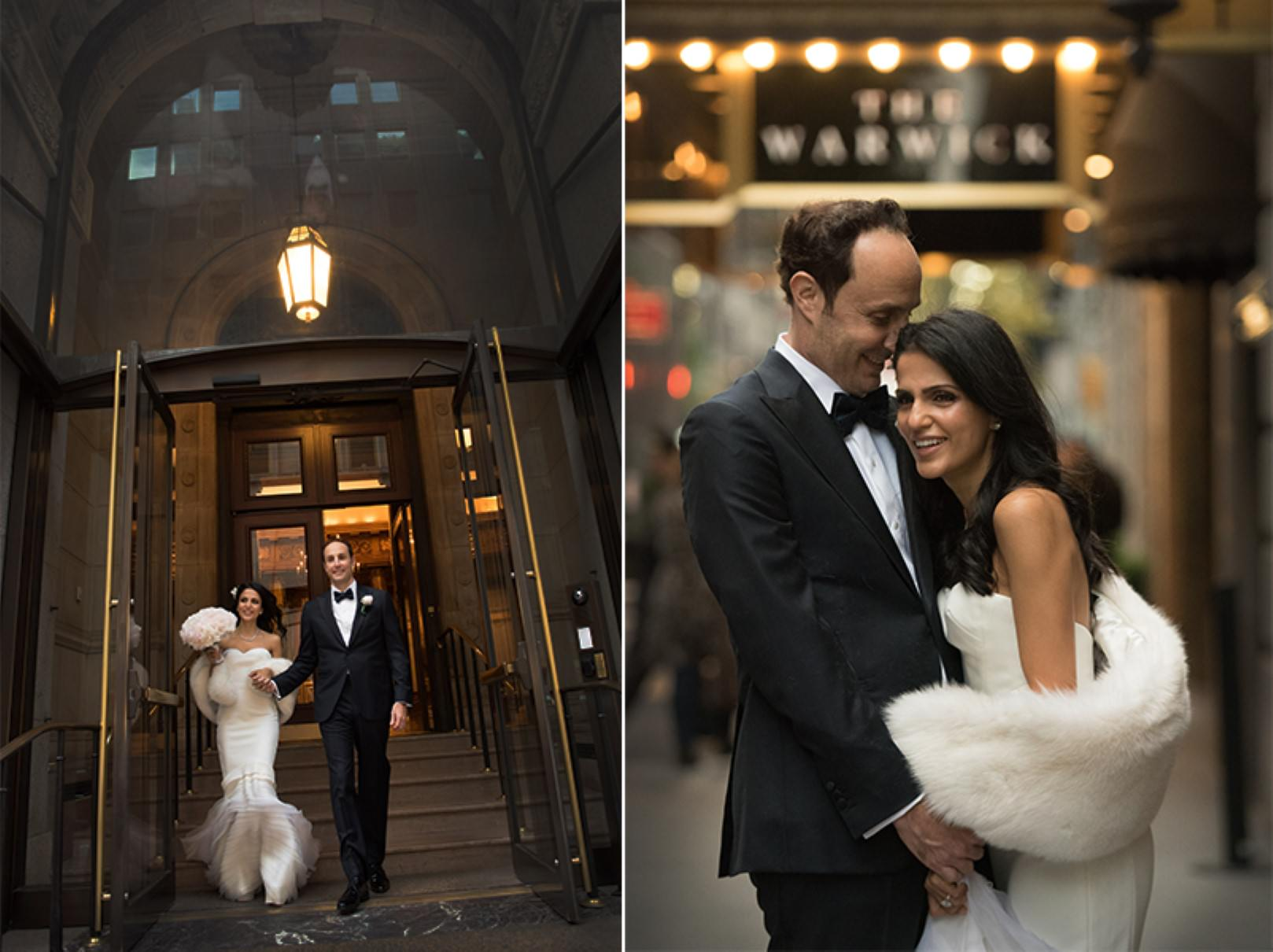 new york city wedding photography photographer photo groom bride emotional kiss walking street architectural