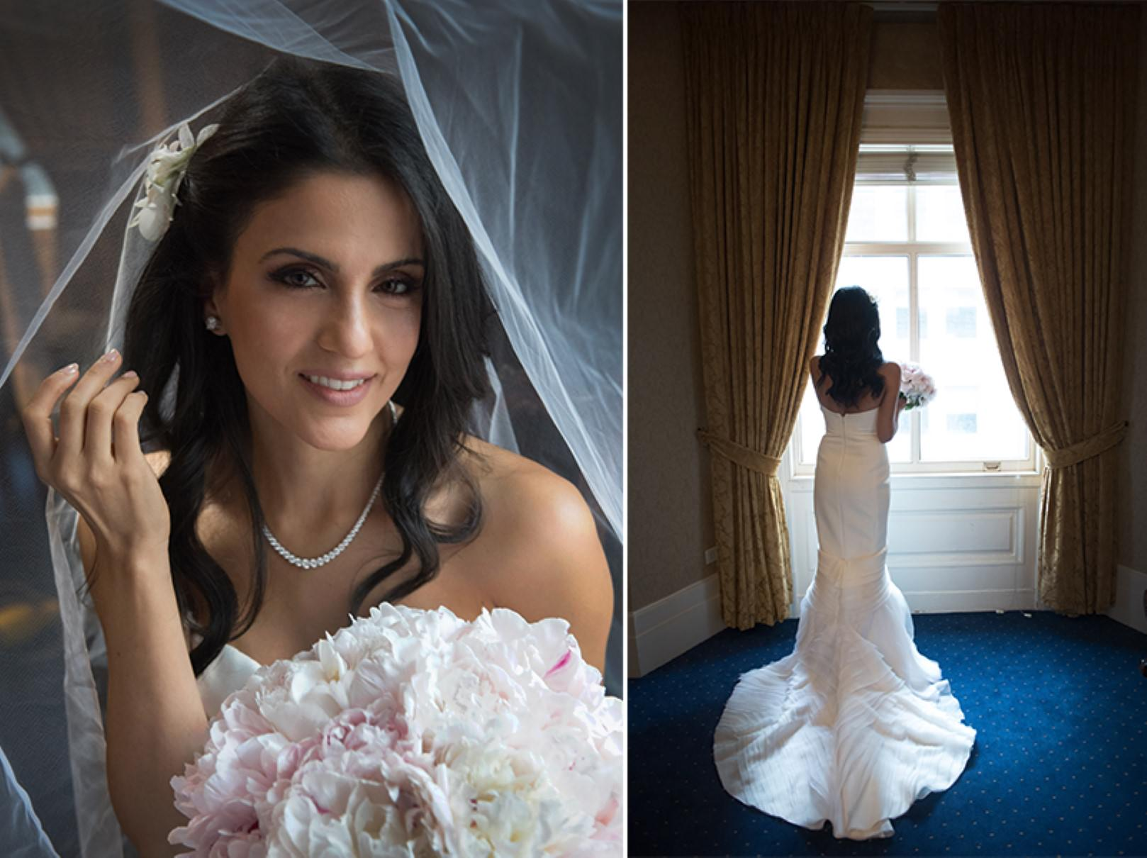 new york city wedding photography photographer photo bride window beautiful portrait artistic veil