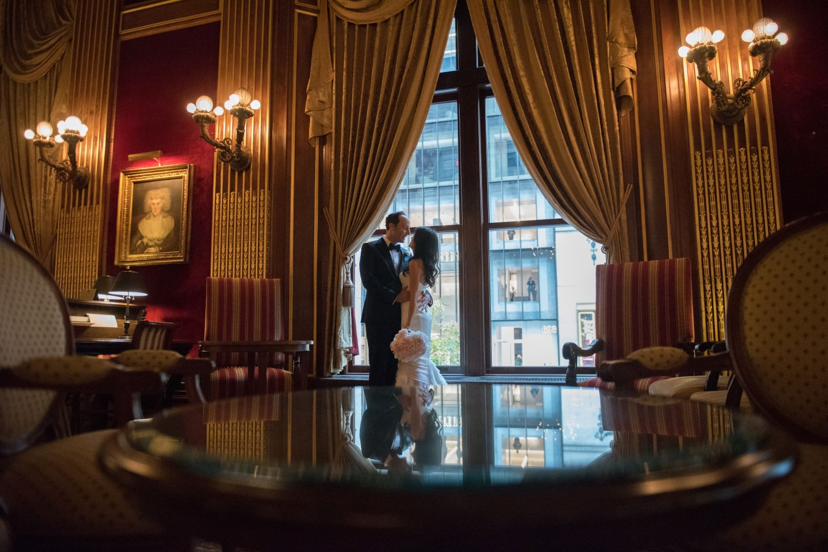 new york city wedding photography photographer photo groom bride first look emotional kiss