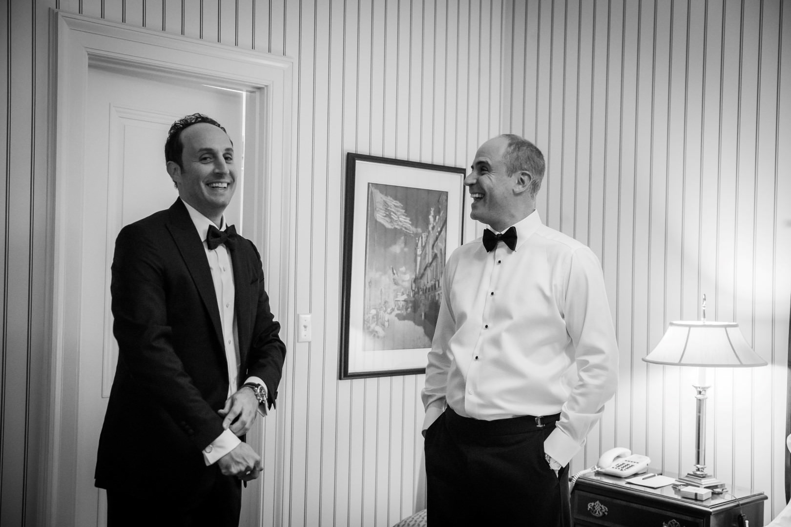new york city wedding photography photographer photo groom getting ready best man bow tie artistic art